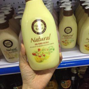 Sữa tắm Happy Bath Natural Real mild hàn quốc
