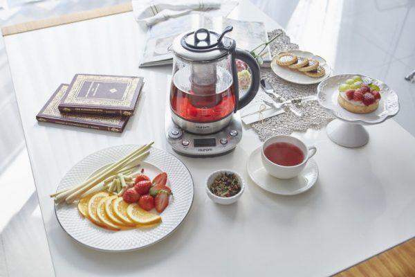 hình ảnh máy pha trà hurom