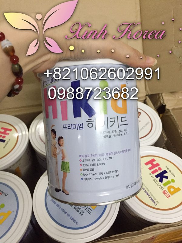 sữa hikid hàn quốc cho bé