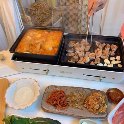 Bếp nướng, lẩu đa năng 3 in 1 Dupan Hàn Quốc